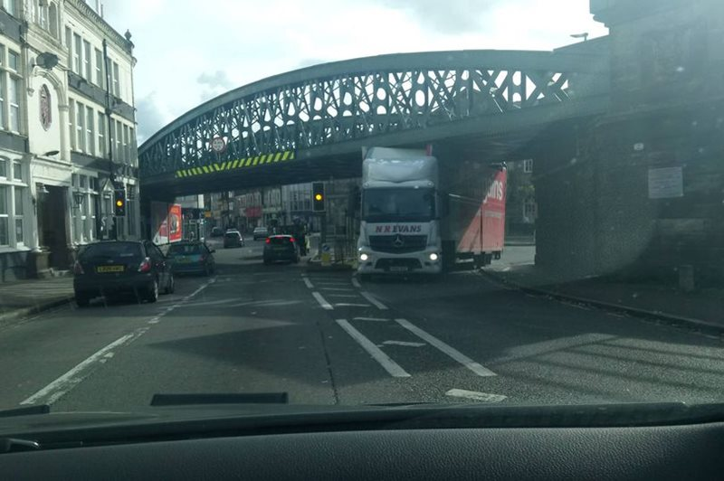 Bridge struck by HGV
