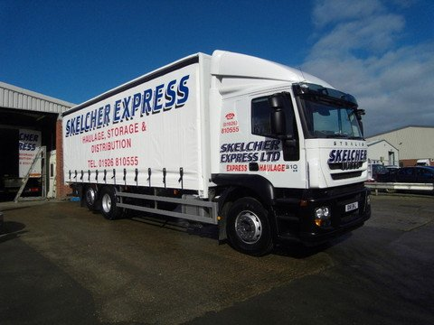 One of our new trucks, with sliding roof and side curtains...