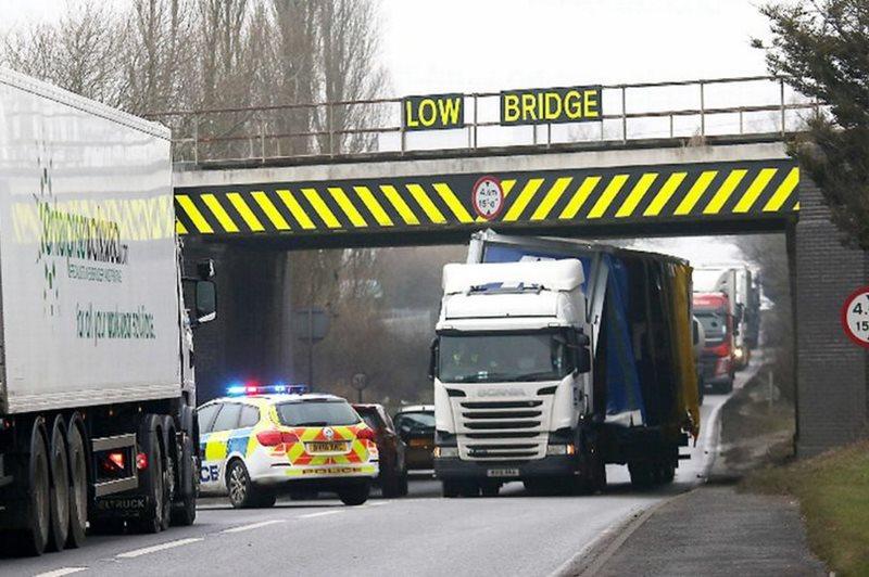 Low bridge hit by hgv