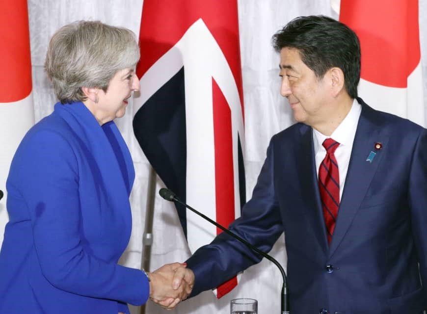 "Japan PM offers UK Pacific partnership with ""open arms"""