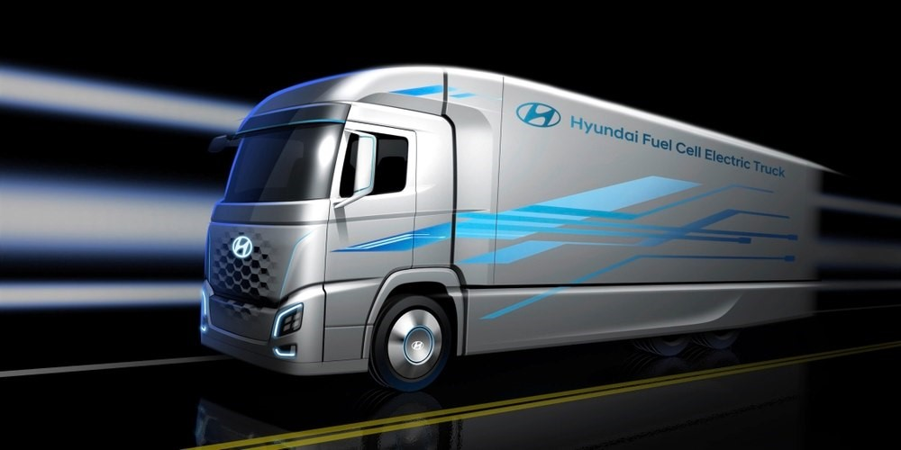 Hydrogen HGV unveiled by Hyundai