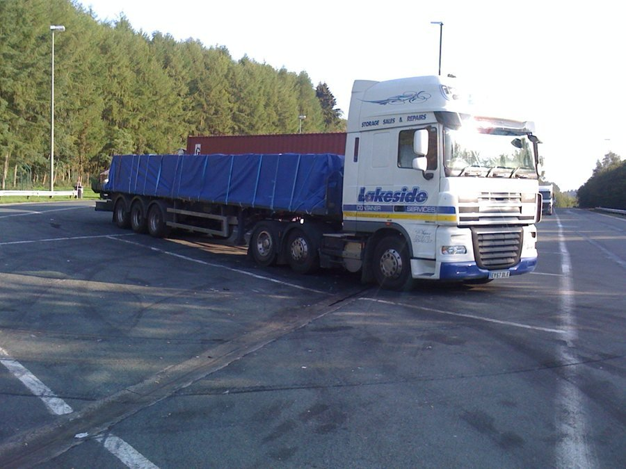 Another flat bed load, Belgium-Lux border