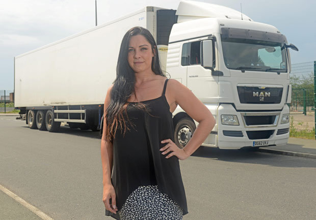 Female HGV drivers like Ashley Haywood could rescue the Scottish haulage economy