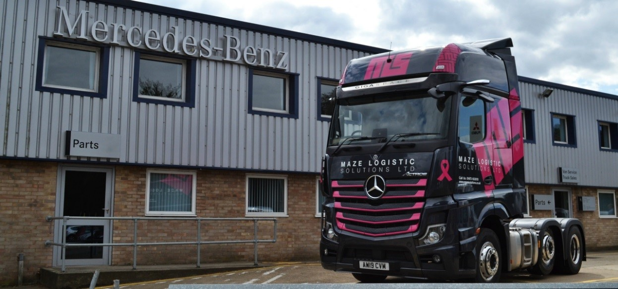 Wear it pink for breast cancer, even Trucks can