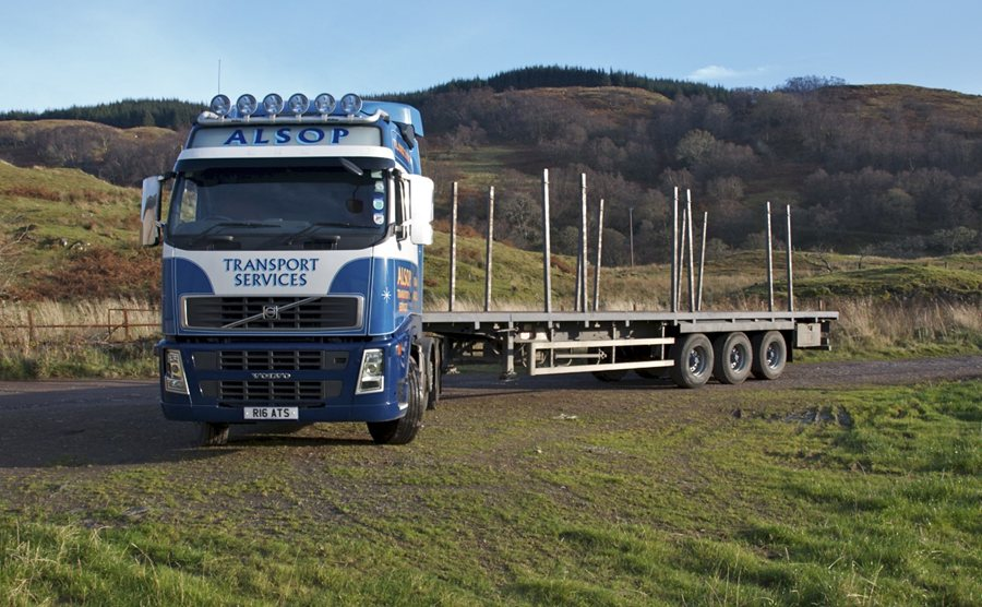 Volvo and Timber Trailer