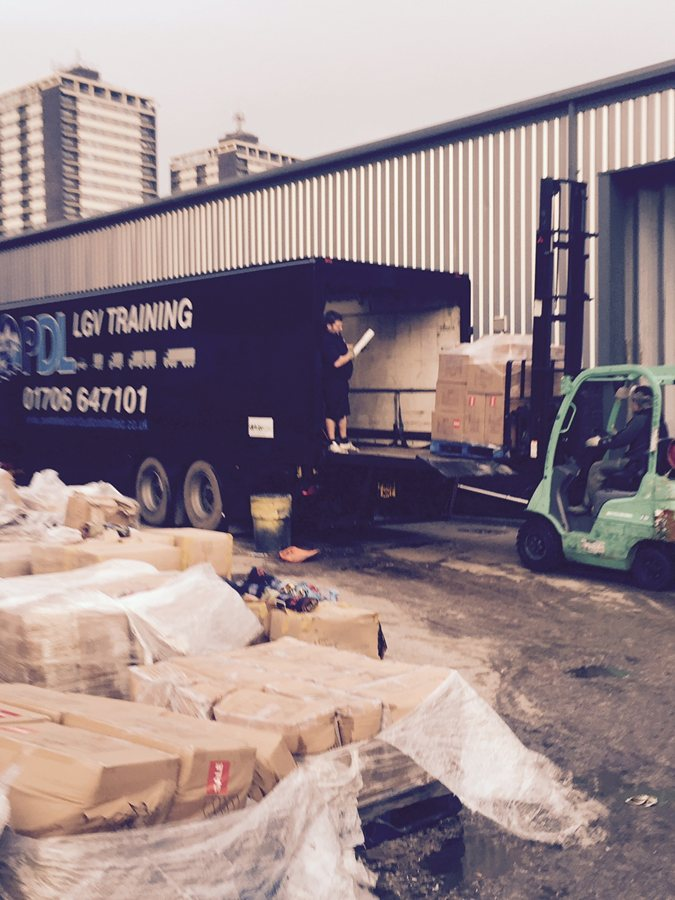 LOADING TRAILER OUT OF ROCHDALE